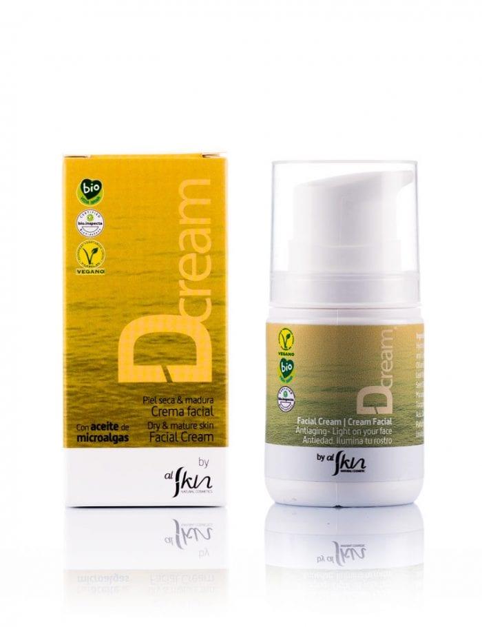 Alskin, Crema facial antiedad con aceite de microalgas