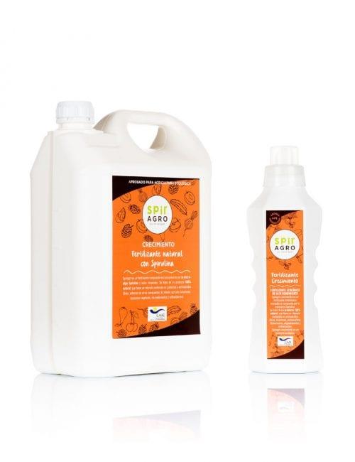 Spiragro Crecimiento, fertilizante de spirulina 750ml y 5l
