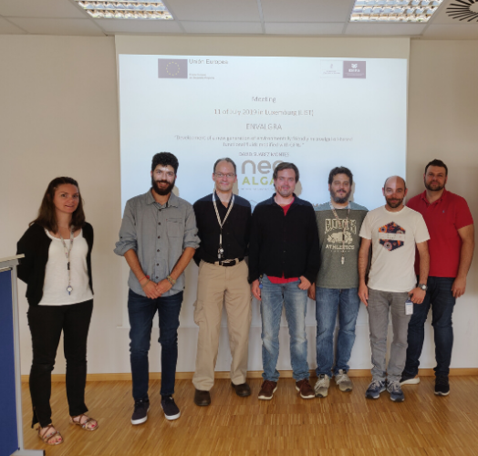 reunion en luxemburgo del proyecto envalgra, el cual coordina neoalgae