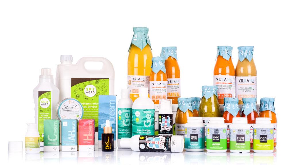 gama de productos neoalgae, disponibles en farmacias de Galicia
