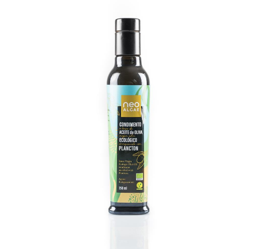 el primer aceite de oliva virgen extra con plancton ecológico del mercado Neoalgae